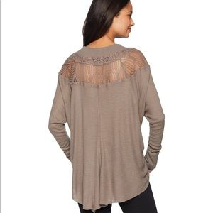 Free People Tops - Free People Spring Valley Beige Thermal Top Small